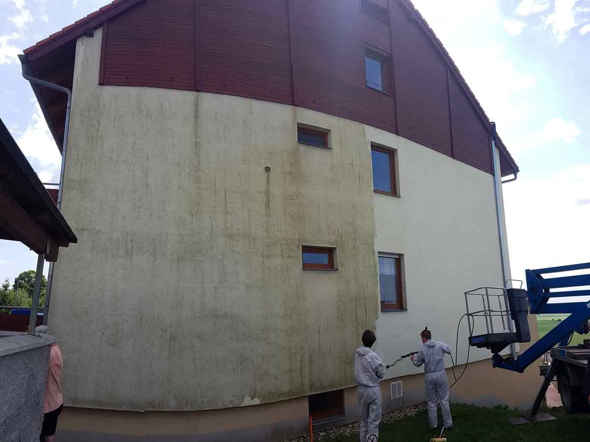 Čištění fasády od plísní
