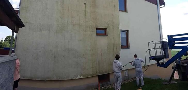 Výškové práce - čištění fasády